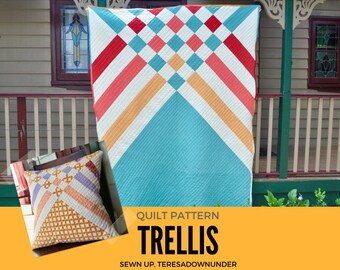 Trellis quilt pattern - 5 sizes