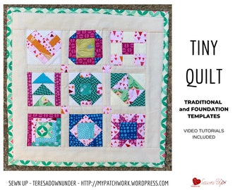 """Seven quilting patchwork squares acrylic craft//sewing templates up to 7.5/"""""""