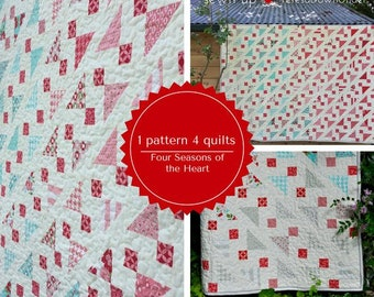 The four seasons of the heart quilt: 1 pattern 4 quilts