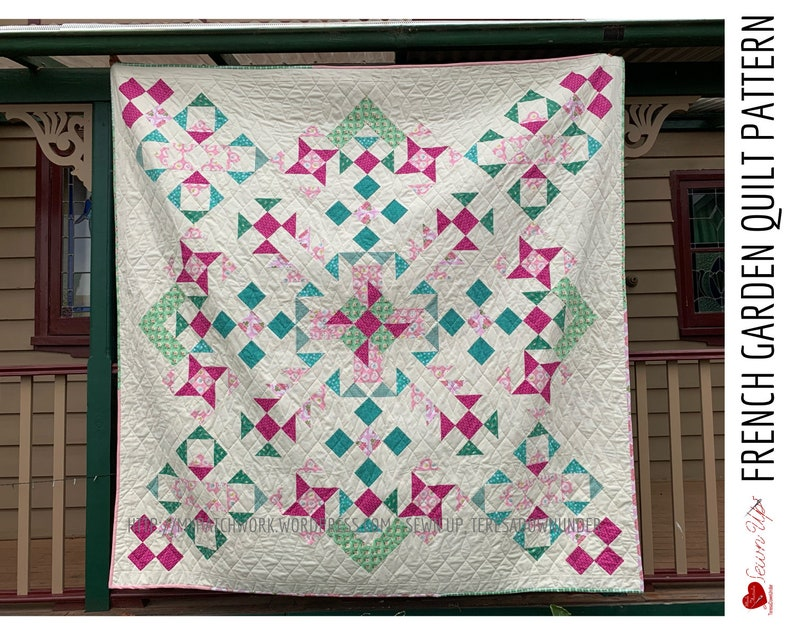 French garden quilt pattern  PDF download image 0