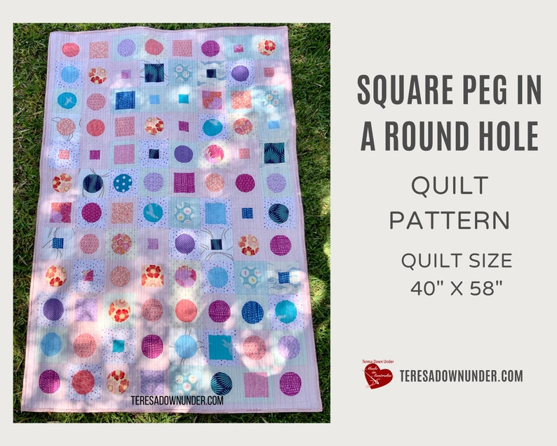 Square peg in a round hole quilt pattern image 0