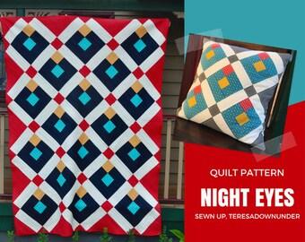 Quilt pattern: Night eyes - 4 sizes
