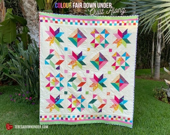 Colour Fair Down Under Quilt Along - it starts on 30 October - PDF download