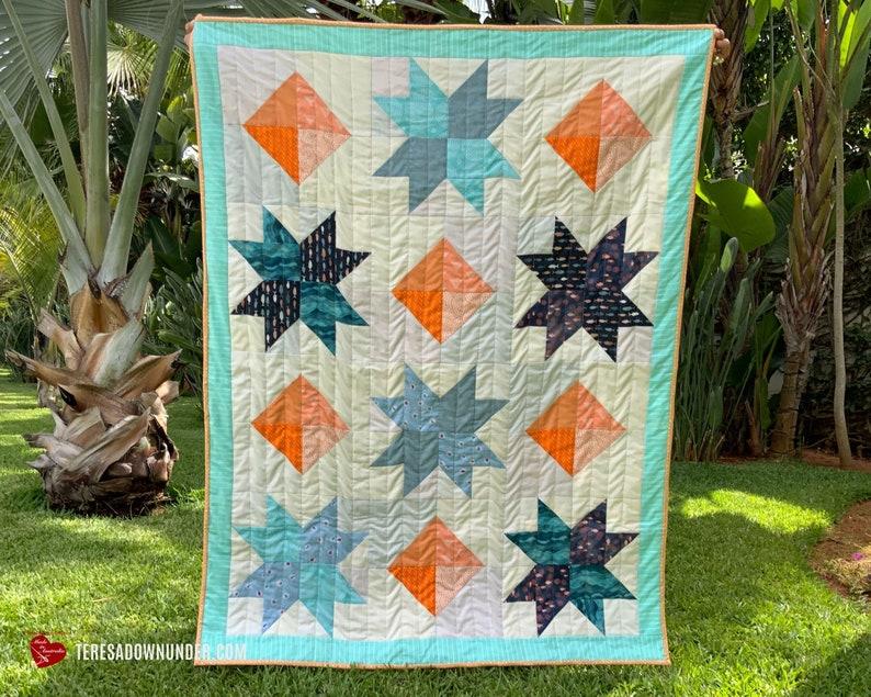 Midnight diamonds quilt pattern image 0