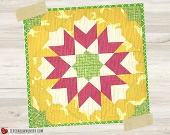 Medina Fall Star quilt block templates