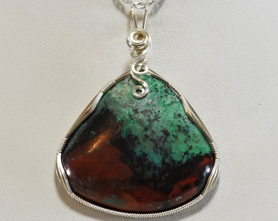 Stunning Sonora Sunrise Wire Wrapped Pendant-Wrapped in .925 Sterling Silver