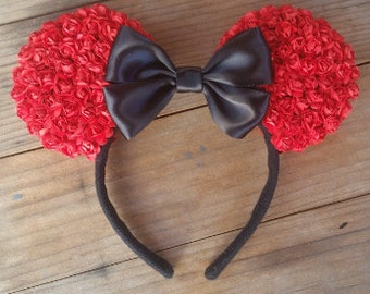 Red Floral Ears