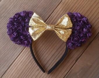 Purple Floral Ears