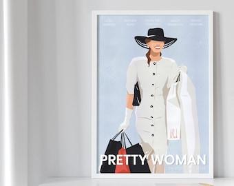 Pretty woman poster, Movie Posters, Wall Decor, Wall Art, Modern Art, Shoping poster, Minimalist Poster, Pop Art Poster, Digital poster