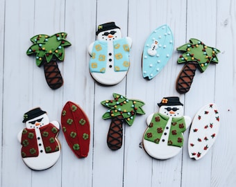 Christmas Cookies - Beach Themed