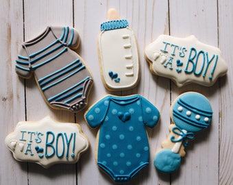 Boy Baby Shower Cookies - 1 Dozen