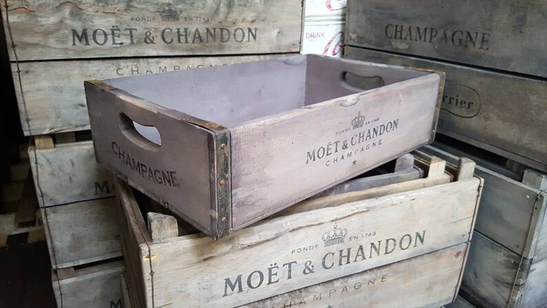 MAN CAVE RECLAIMED FRENCH WOODEN WINE BOX TRAY IDEAL FOR HOME BAR
