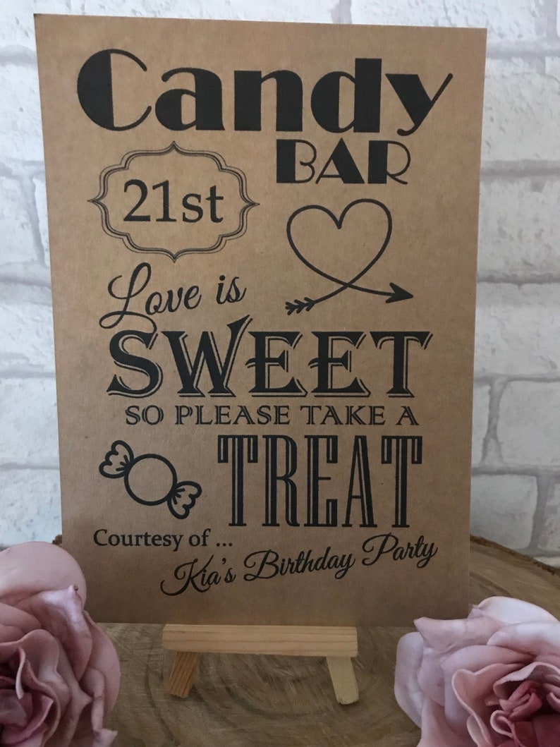 Personalised 21st Birthday Party Table Decoration Sweet Treat