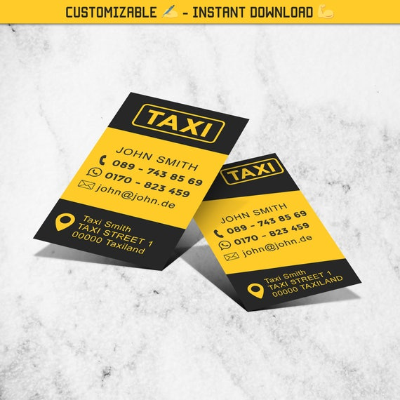Taxi Cab Business Card Template 2 Versions Included