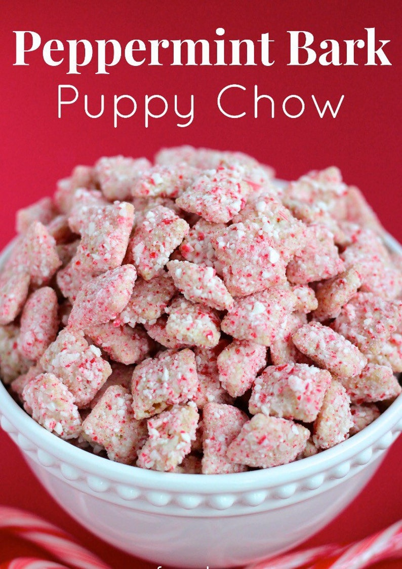 Peppermint Bark Puppy Chow Etsy