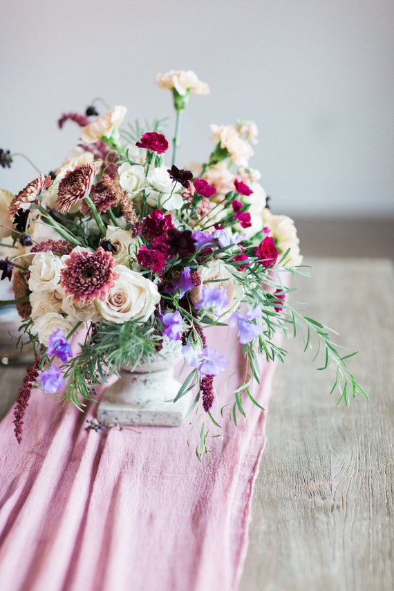 Romantic Table Runner Gauze Runner Boho Wedding Centerpieces Etsy