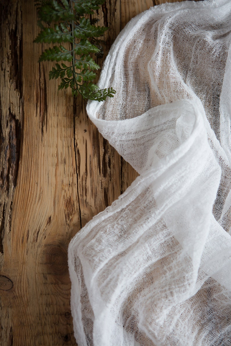 Sensational Winter Wedding Decor Gauze Table Runner Centerpieces Bridal Party Table Decor White Cheese Cloth Hand Dyed Runner Cotton Scrim Table Decor Download Free Architecture Designs Remcamadebymaigaardcom