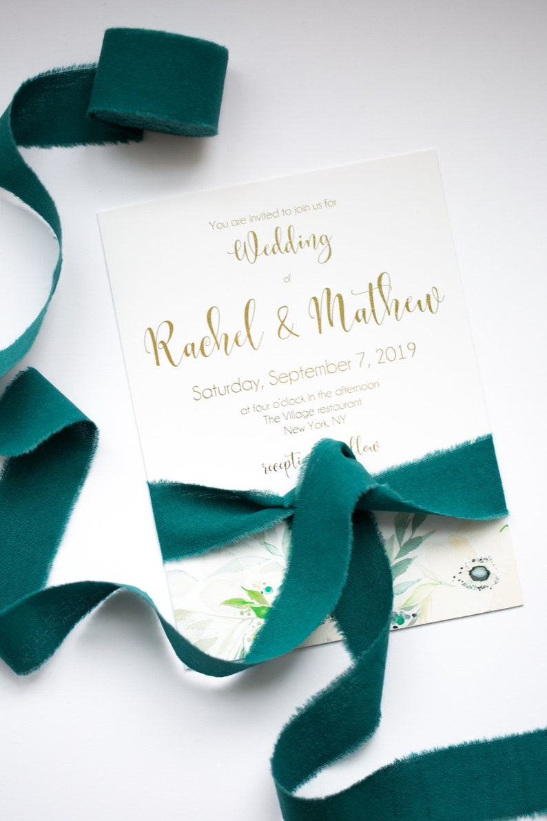 Band Hochzeit Smaragdgrün