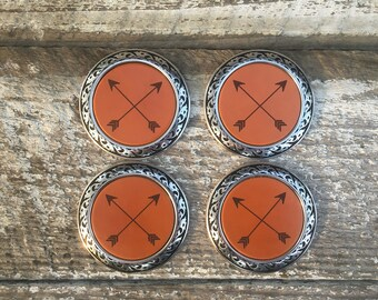 Leather Coasters with Arrows