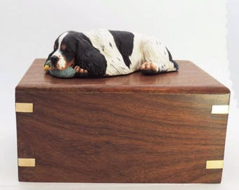Cremation Urn For English Springer Spaniel Ashes,  Any coat colour or painted like your own pet.