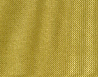 Quilting Cotton - Cotton + Steel Basics - Netorious - Goldilocks Metallic - Mustard and Silver