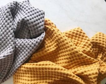 Waffle Blanket, Jumbo Waffle, Waffle Baby Blanket, Waffle Swaddle