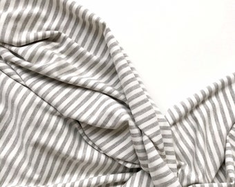 Stripes Stretch Swaddle Blanket, Swaddle Blanket, Bamboo Swaddle Blanket, Grey and Ivory Baby Blanket