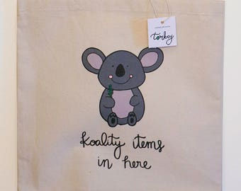 Koala Tote Bag | Cute Tote Bag | Funny Tote Bags | Koala Bag