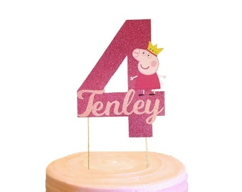Peppa Pig Cake Topper, Peppa Pig Centerpiece, Cake Topper, Peppa Pig Birthday , Any Age