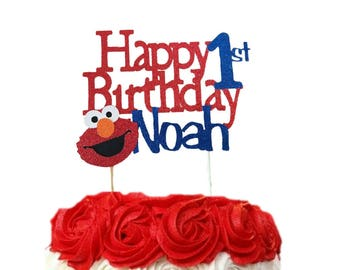 Elmo Cake Topper 1st Personalized First Birthday Custom Sesame Street