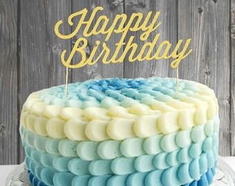 Cake topper - Happy Birthday cake topper, birthday cake topper, birthday decorations, party decorations, birthday party, birthday decoration