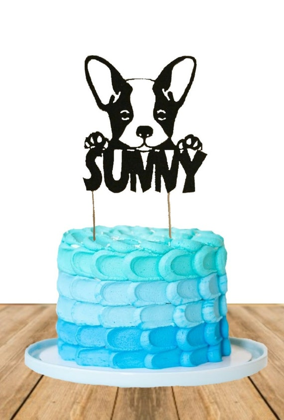 French Bulldog Cake Toppers Frenchie Cupcake Toppers Dog Etsy