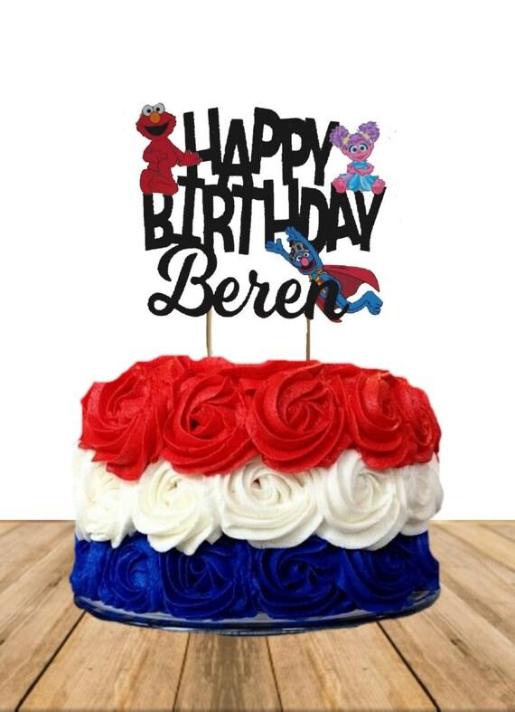 Sesame Street Cake Topper Personalized Elmo Birthday Custom