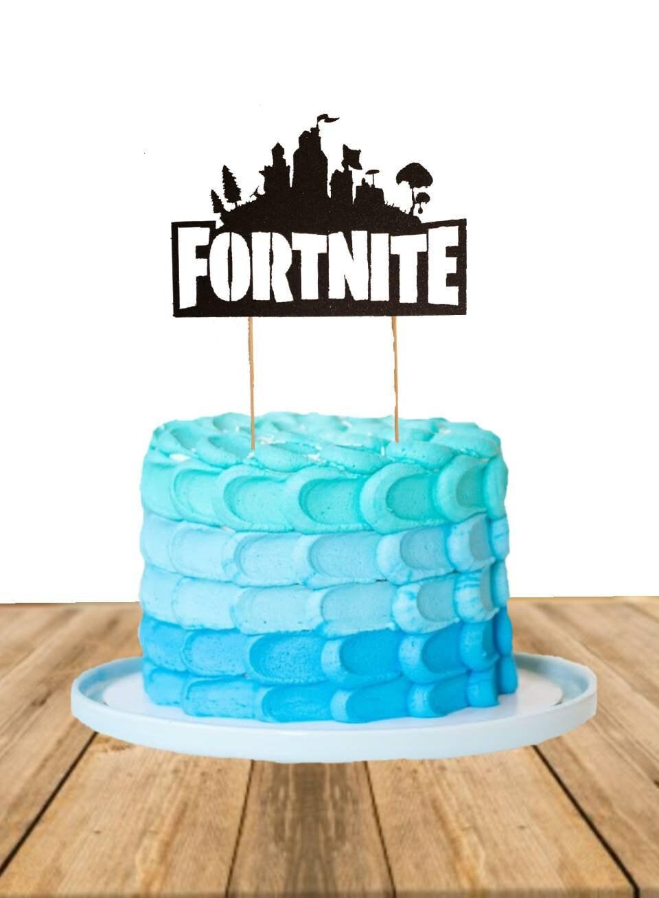 Fortnite Cake Topper Fortnite floss birthday cake topper ...