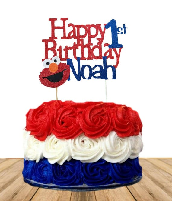 Elmo Cake Topper 1st Personalized First Birthday