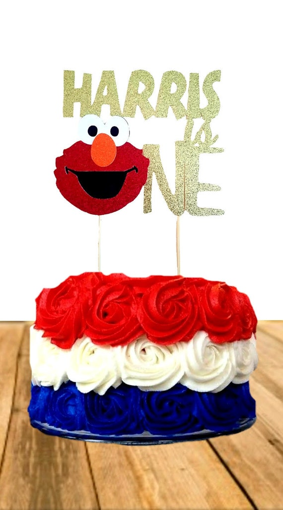 Elmo One Cake Topper Personalized First