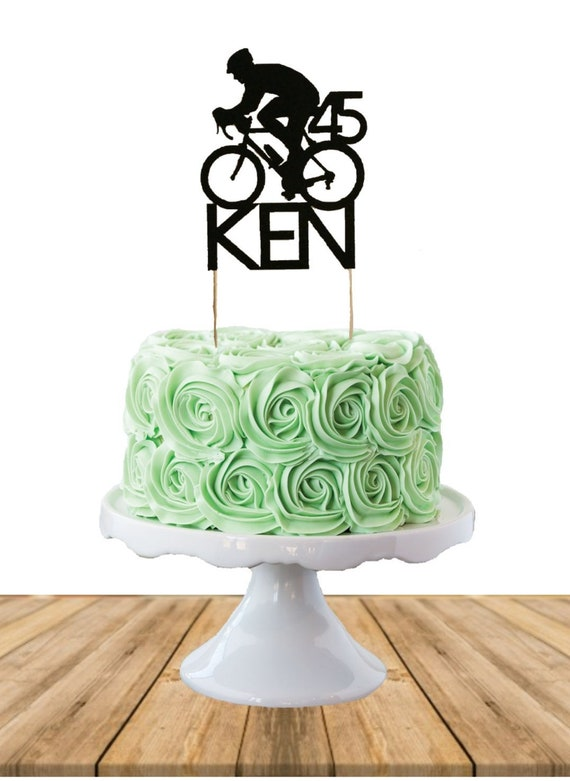 Cycling Cake Topper Birthday Cake Topper Name Cake Topper Etsy