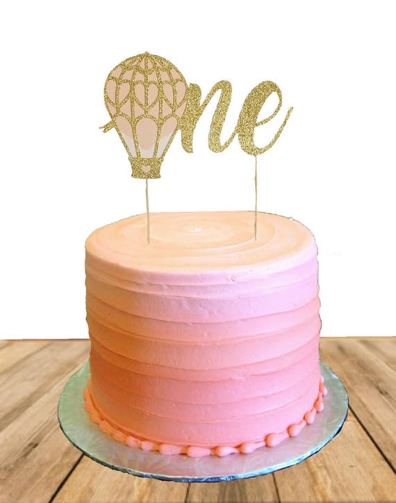 Hot Air Balloon Cake Topper Hot Air Balloon Birthday Hot Air
