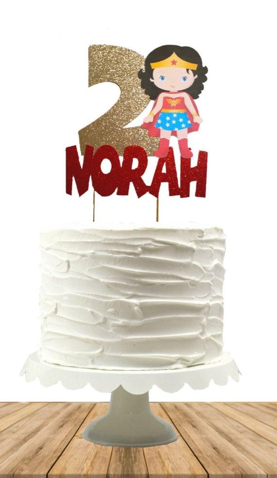 Wonder Woman Cake Topper Wonder Woman Party Wonder Woman Etsy