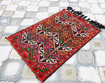 3/'7/'/'x 2/'7/'/' ft 114x82 cm Turkish rug,Turkish kilim,Goat hair Kilim rug,Vintage Rug,Tribal Rug,Small Kilim,Handmade rug,rug,668. Kilim rug