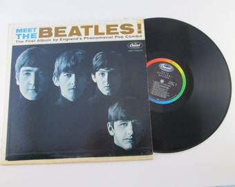 The Beatles Meet the Beatles! Vinyl LP (1964, Capitol, T-2047) Early Press