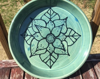 Turquoise Flower Plate