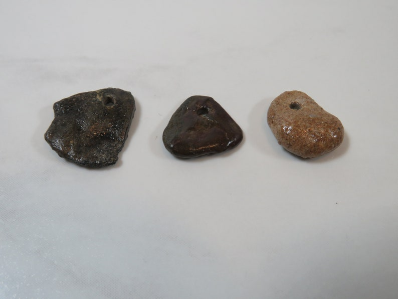 15 Drilled Lake Superior Natural Beach Stones For Beach Stone Handmade Jewelry or Beach Lovers Gift