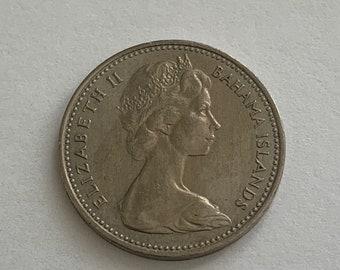 Coins 57h North & Central America 25 Cents Queen Elizabeth Ii 1966 Bahamas