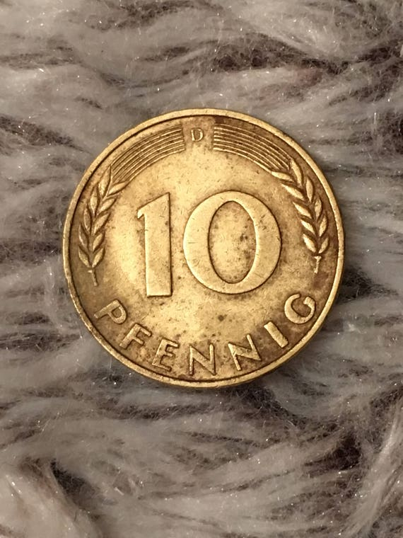 1950 German 10 Pfennig Etsy