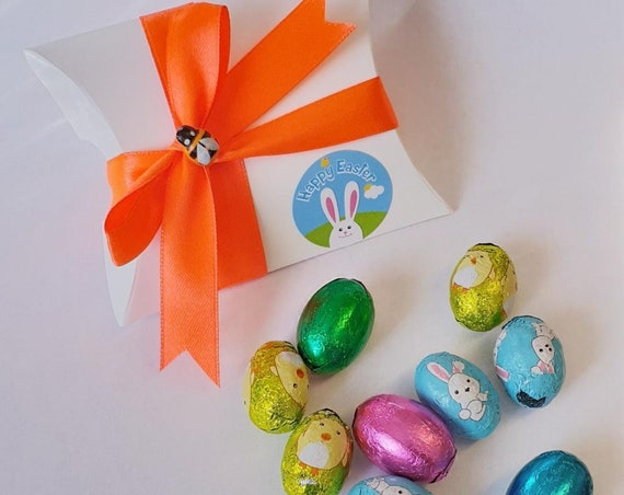 Easter Pillow Box Easter Eggs Party Favours Teacher Gift Chocolate Eggs Prefilled Favours