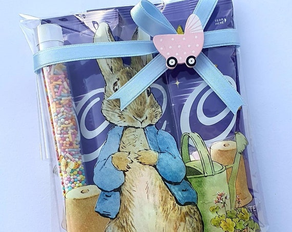 Hot Chocolate Rabbit Themed Favours  Baby Shower Gender Reveal  Birthday Treat Chocolate Lover Gift (Qty 1)