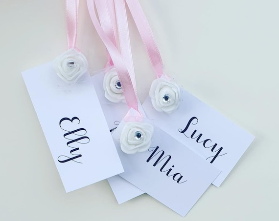 Personalised Favour Gift Tags Birthday Bridesmaid Wedding Bridal Shower Hens (QTY 10)