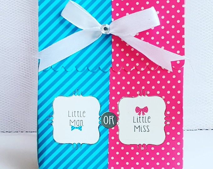 10 Gender Reveal Baby Shower prefilled Favour Boxes Boy or Girl Unisex Favours