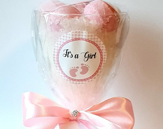 Baby Shower Favours Prefilled Wine Glass with Bath Bombs Dead Sea Salts Bridal Shower Favours Sleepover Slumber Party Spa Day